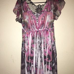 Multicolor Flowy Dress